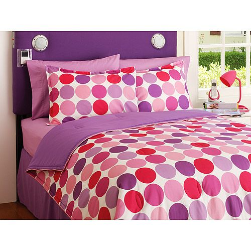 Pink And Purple Bedroom: $29.50 Your Zone Reversible Comforter And Sham Set, Purple