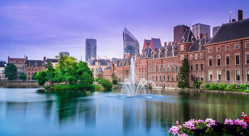 Den Haag Hofvijver in de lente van Ricardo Bouman op
