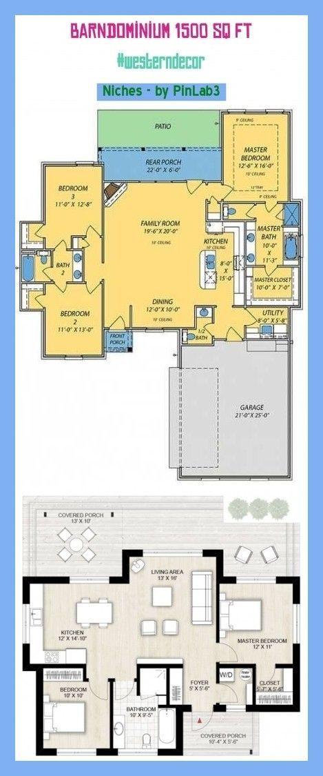 Barndominium 1500 sq ft Barndominium 1500 sq ft  barndominium 1500 pieds carrés  barndominium 1500 pies cuadrados  barndominium floor plans barndominium exterior b...