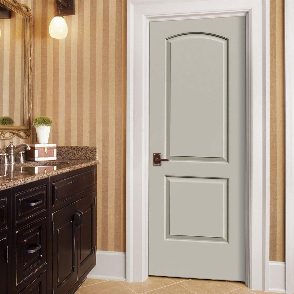 Exceptional Add Architectural Interest Into Your Home With This JELD WEN Smooth  Two Panel Arch Top Primed Molded Composite Single Prehung Interior Door.