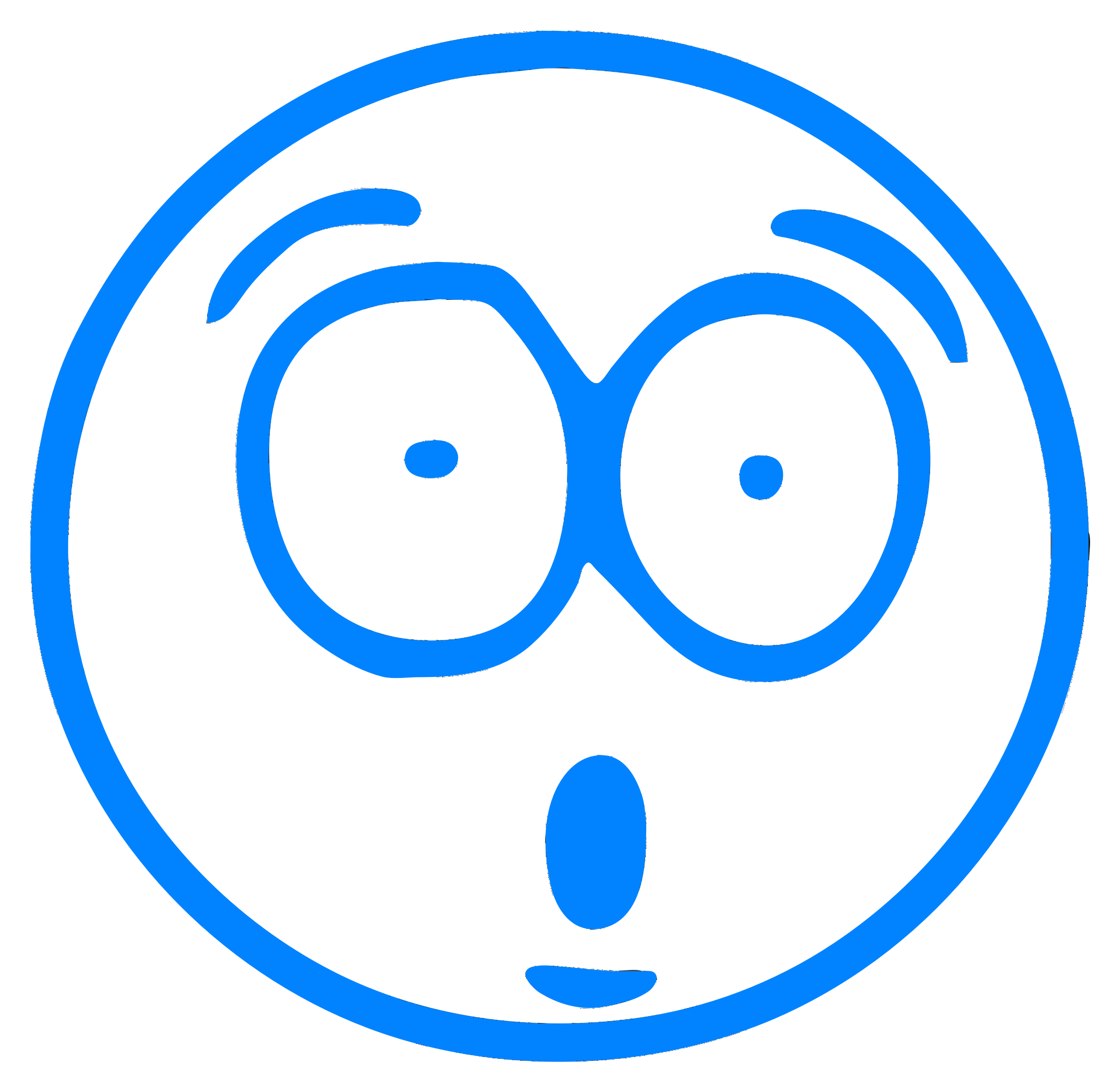 Blue Surprised Cartoon Smiley Cartoon Smiley Free Clip Art