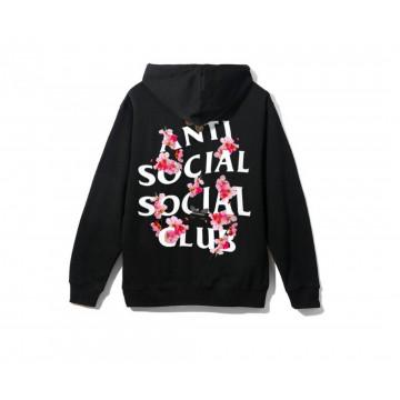 Antisocial Social Club Assc Kkoch Sweatshirt Black Sakura Anti Social Social Club Anti Social Social Club Hoodie Black Hoodie