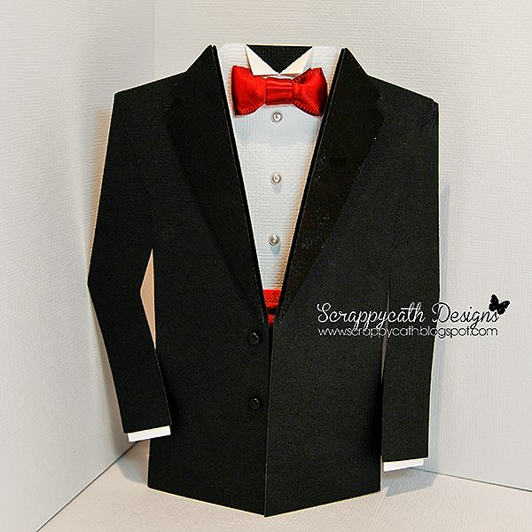 Tuxedo Card - with template - bjl | Cards - Shapes | Pinterest ...