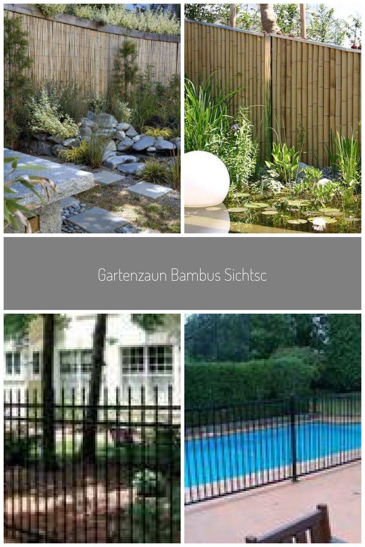 Gartenzaun Bambus Sichtschutz Hoch Kleingarten Abgrenzen