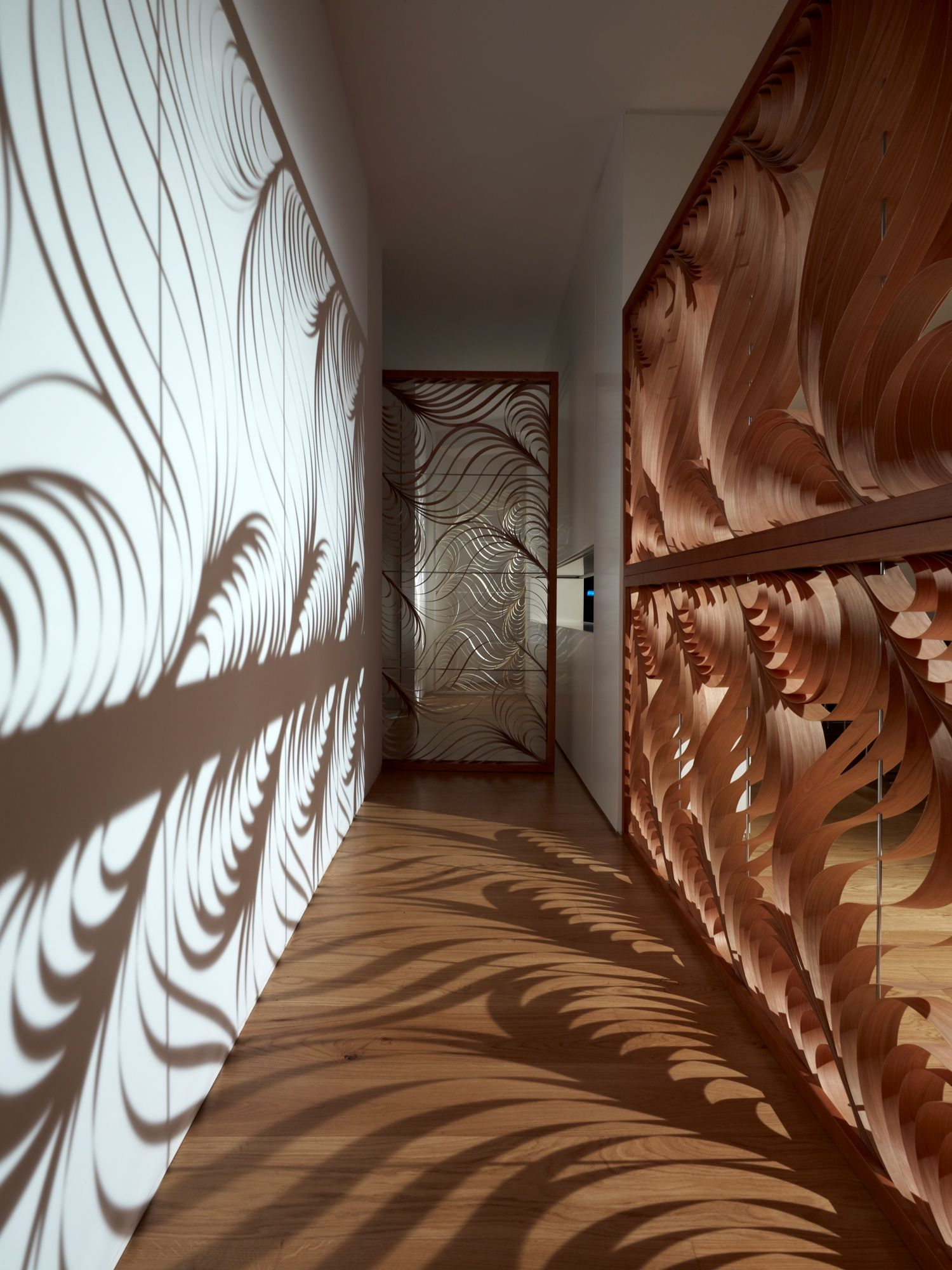 Paisley Was Created By The Spanish Designer Luis Eslava For Lzf This Modular Screen Made Of Cherry Veneer Luxury Hotel Design Architecture Design