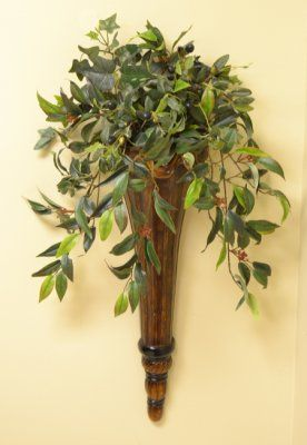 Chocolate Silk Wall Arrangement. Bring lively delight to ... on Decorative Wall Sconces For Flowers Arrangements id=26100