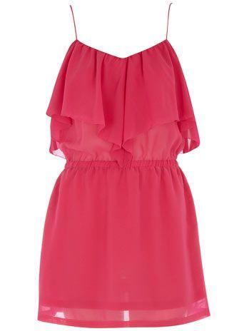 pink ruffle layered