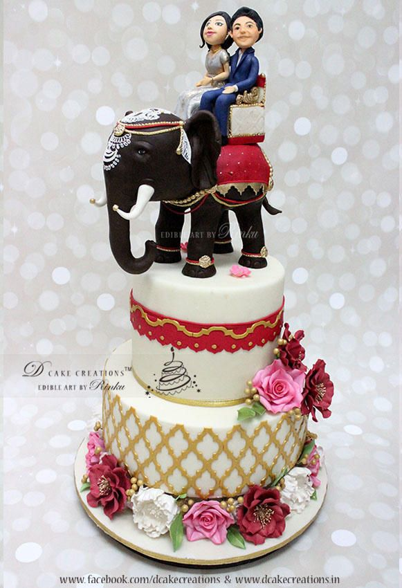 Indian Theme Engagement Cake By D Cake Creations Http