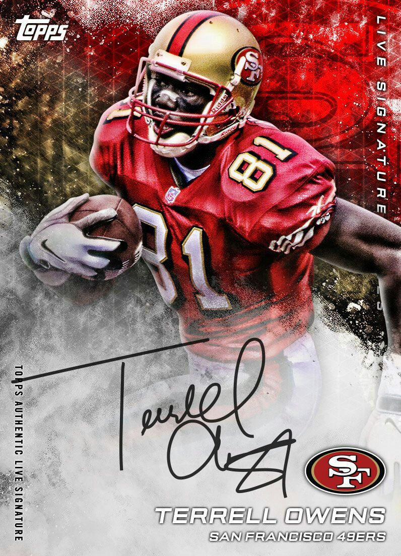 best sneakers a4a0f 2d7a3 Terrell Owens | Topps Football Cards | Football cards ...