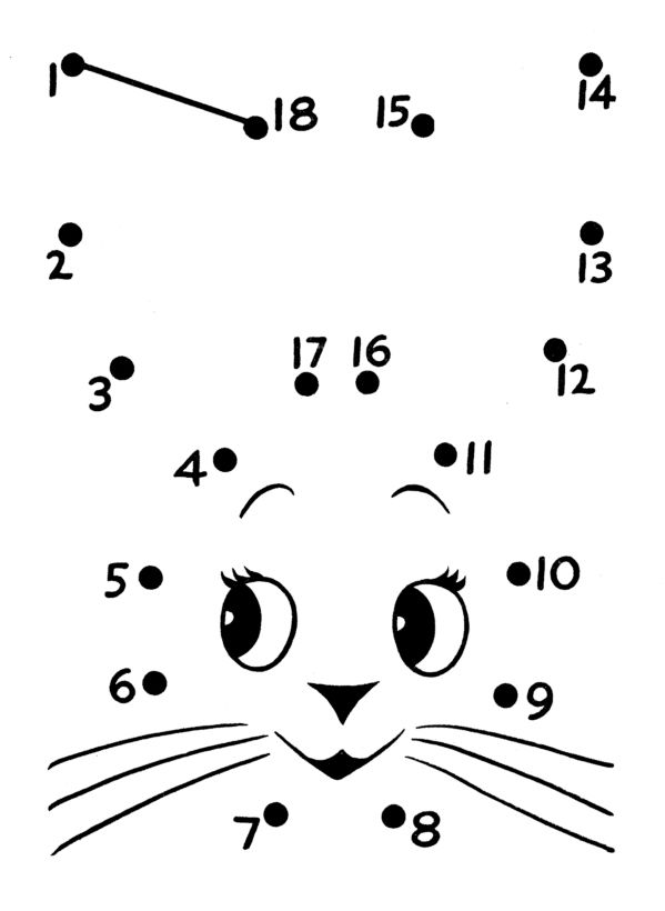 Dot To Dot 1 20 Worksheets : Image from http activity sheets connect dots