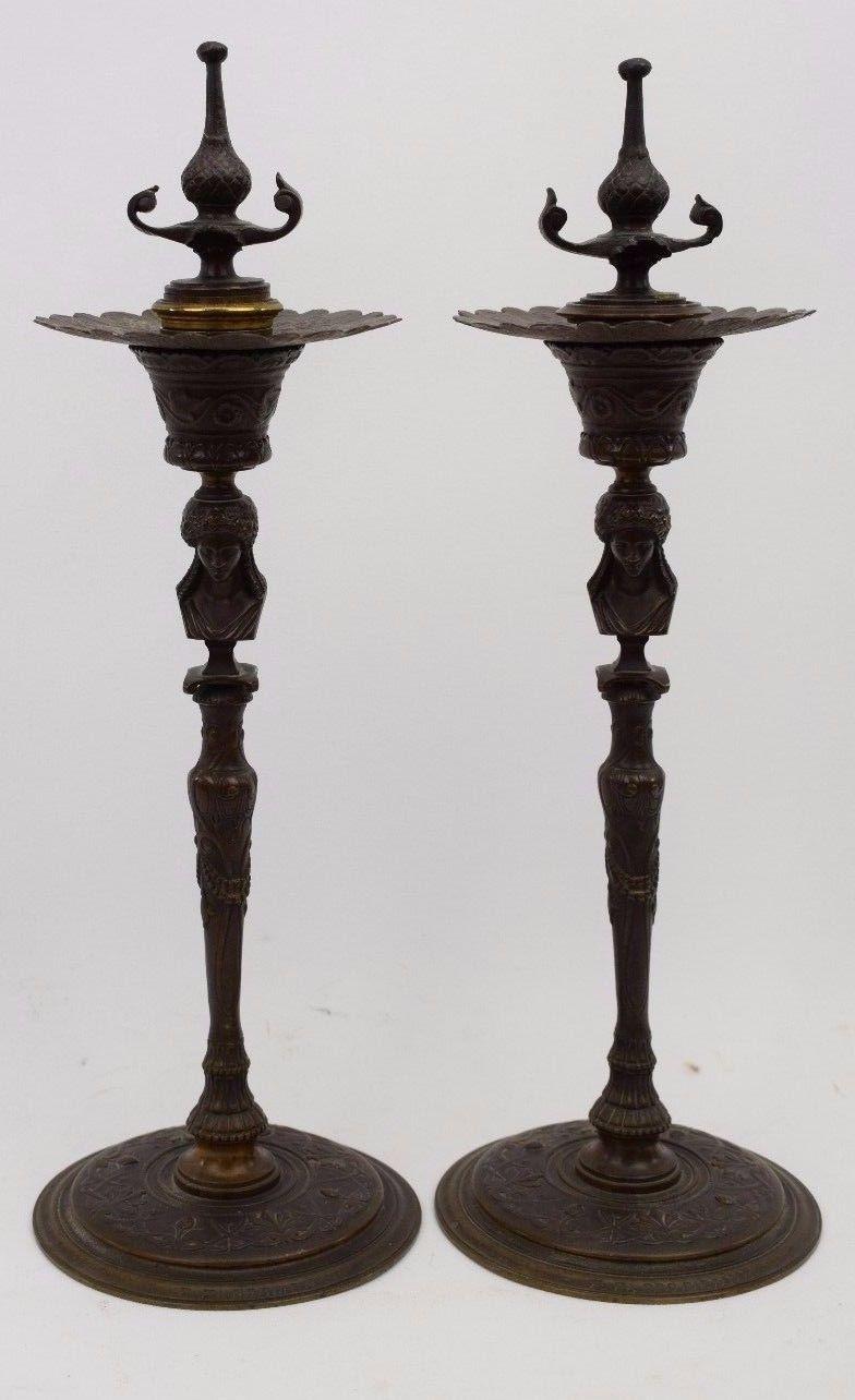 Antiker Gründerzeit Klavierleuchte,wandleuchte Mit Putti Antiquitäten & Kunst Bronze Feuervergoldet