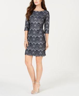 Jessica Howard Women/'s Floral Lace Sheath Dress