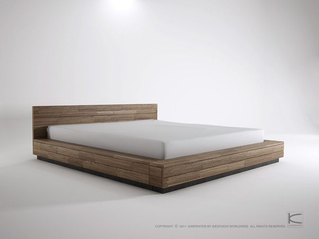 Low King Bed Wonder If I Could Build Something Like This Dengan Gambar Mebel Ruangan Desain