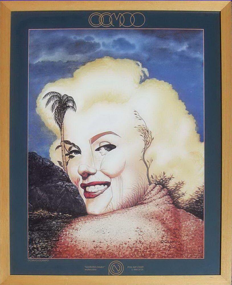 Octavio Ocampo Marilyn\'s Family - Marilyn Monroe Poster - Framed ...