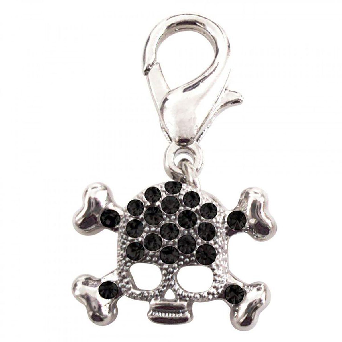Skull D Ring Pet Collar Charm By Foufou Dog