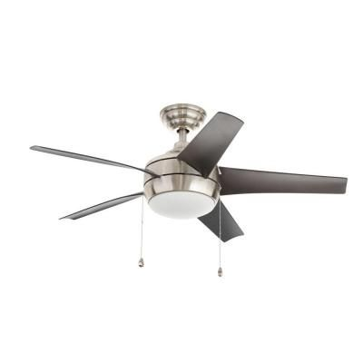 Home decorators collection windward 44 in brushed nickel indoor ceiling fan 51565 the