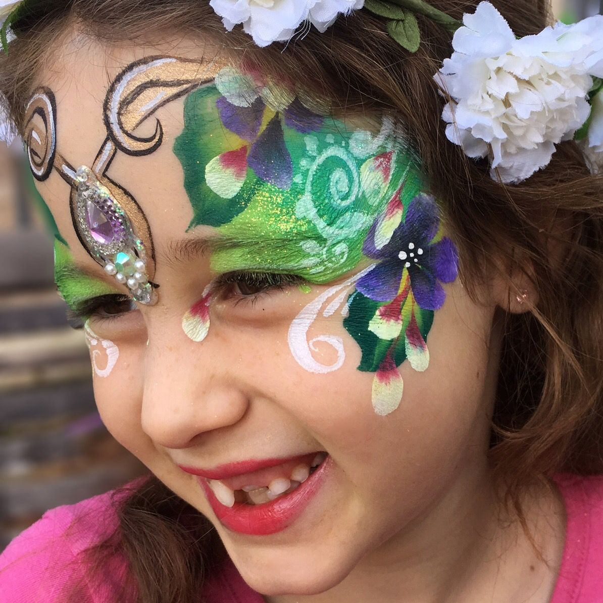 Flower Fairy By Leylashemesh Faceart And Henna.