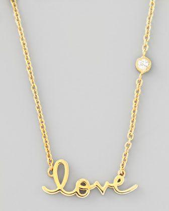 Love Pendant Bezel Diamond Necklace - SHY by Sydney Evan