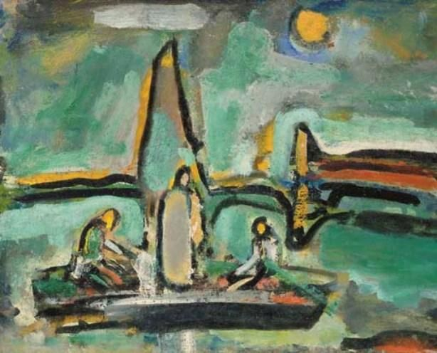 georges rouault landscape from the bible christ and the fishermen artwork canvas art art