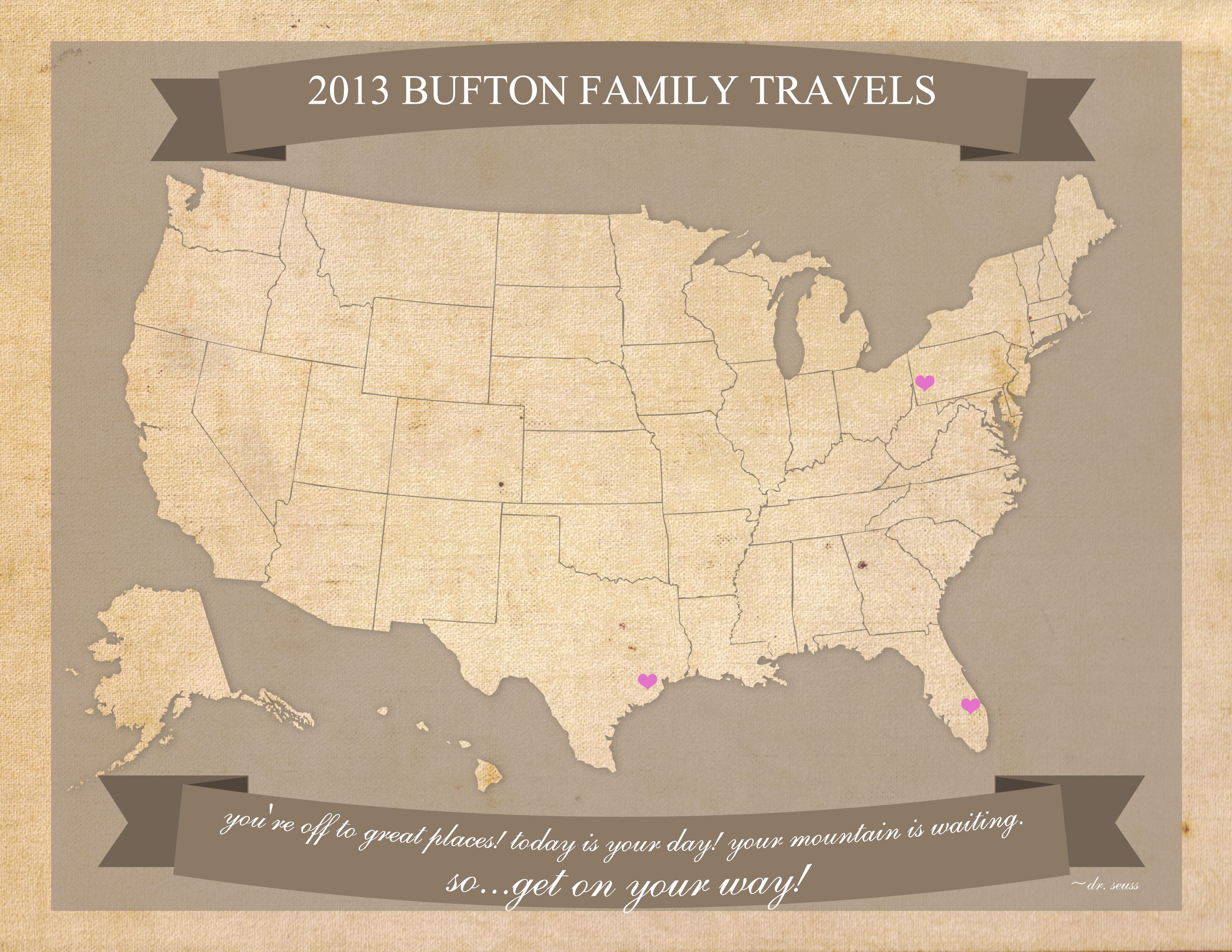 Free Printable United States Travel Map