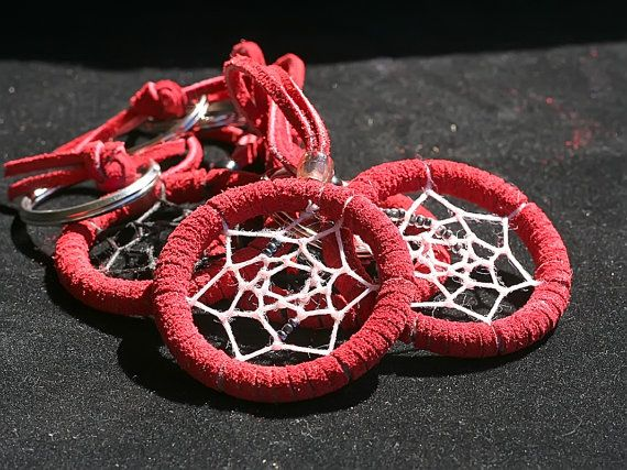 Dreamcatcher Keychain  Red Exterior by toxicdarque on Etsy, $5.00