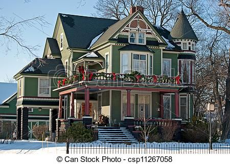 Christmas House Decorations victorian houses decorated for christmas | home and house style