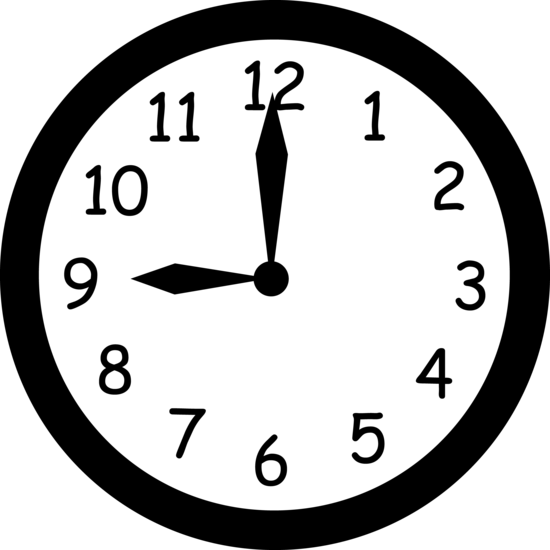 Wall Clock Striking Nine Free Clip Art Clock Free Clip Art Wall Clock