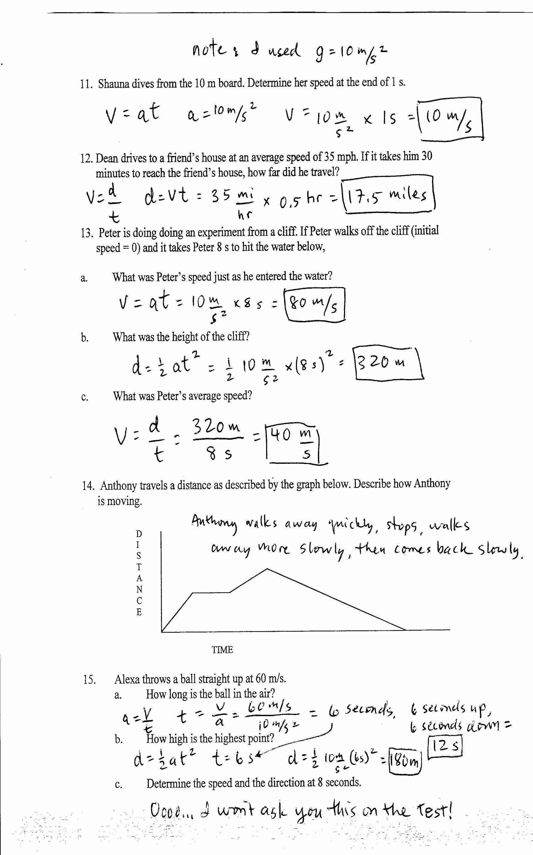 Interpreting Graphs Worksheet Answers Physics