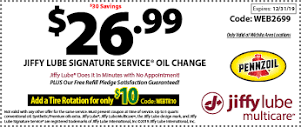 Jiffy Lube Signature Service Oil Change Coupon Lube Coupons Oil Change