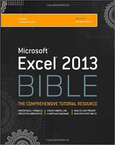Excel 2013 Bible John Walkenbach 9781118490365  Books