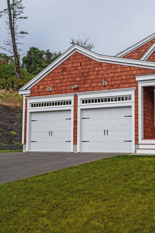 C H I Overhead Doors Model 5216 In White With Spade Hardware Doors Overhead Door Residential Garage Doors