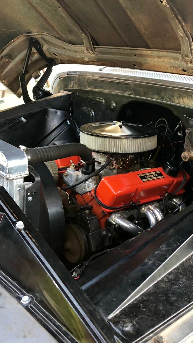 1963 c10 350 sbc holley 600 shorty headers   Powerplant