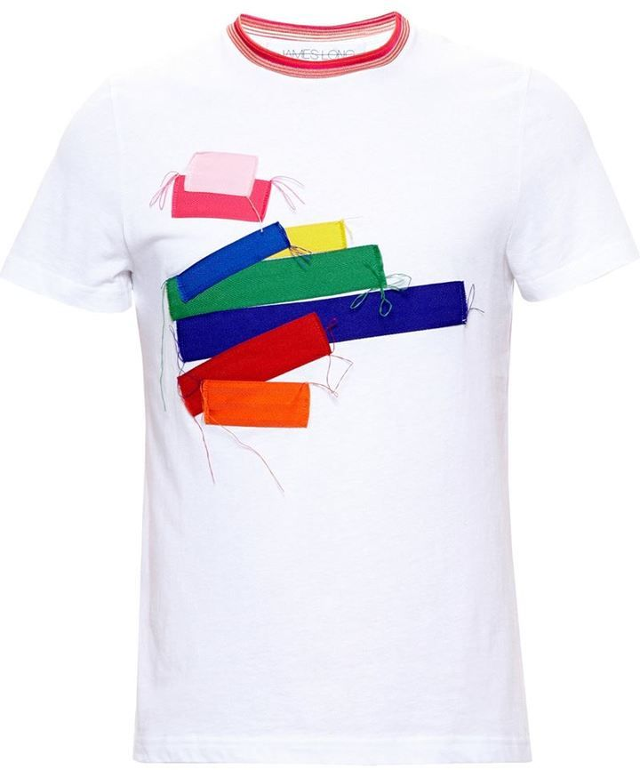 James Long patchwork T-shirt