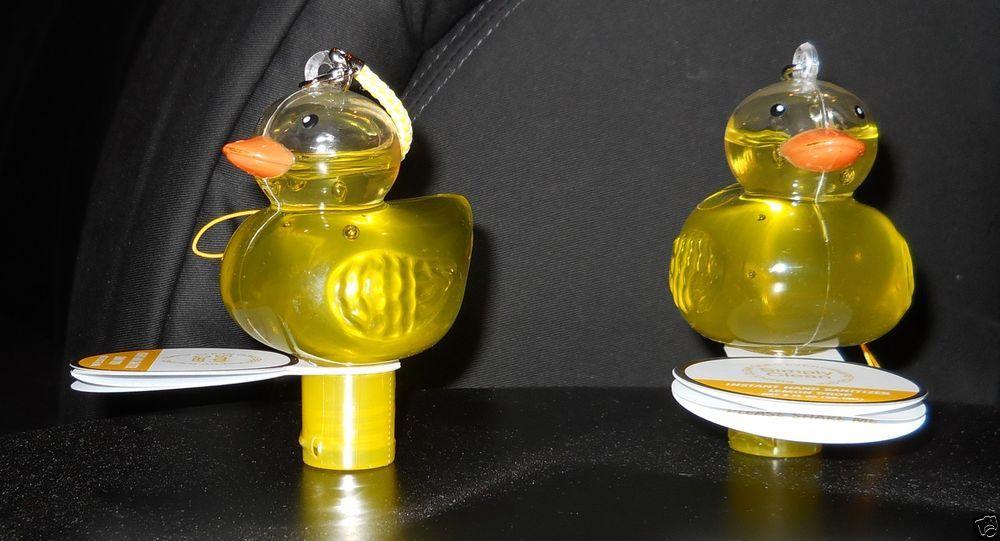 Duck Hand Sanitizer Yellow Glass Simply Clean Lemon Drop Plastic