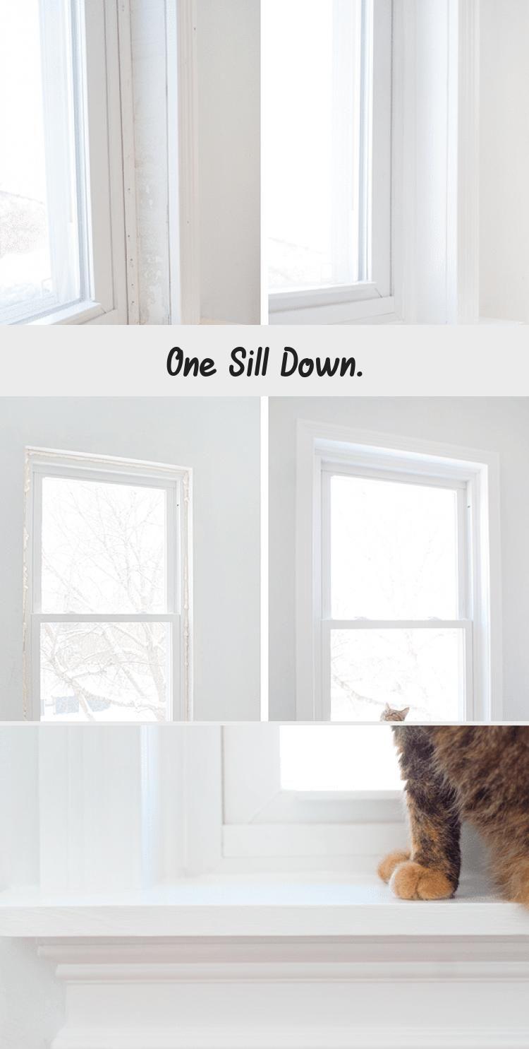 One Sill Down   Diy home improvement, Wood window sill ...