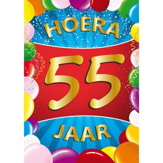 Uitgelezene 55 verjaardag mega deurposter in A1 formaat. Grote deurposter 55 KP-33