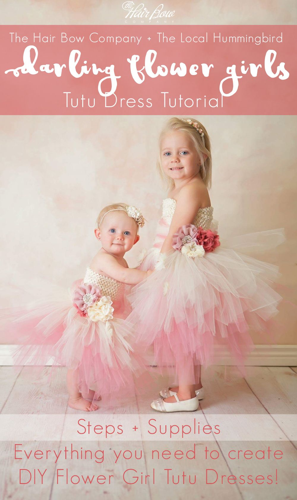 1cdb432aa278 Darling Flower Girl Tutu Dress DIY Tutorial