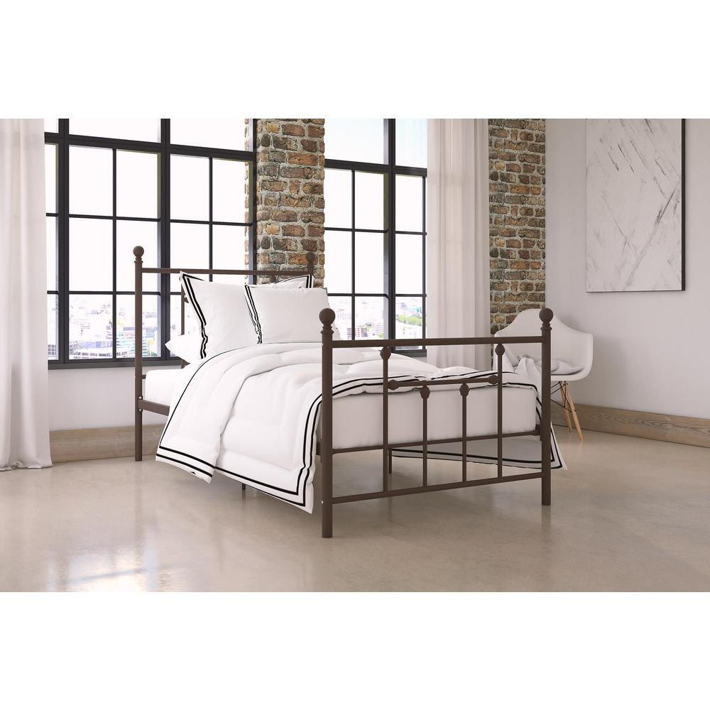 Dhp Mia Bronze Twin Size Metal Bed Frame Bronze Finish Twin Size Metal Bed Frame Metal Beds Queen Metal Bed