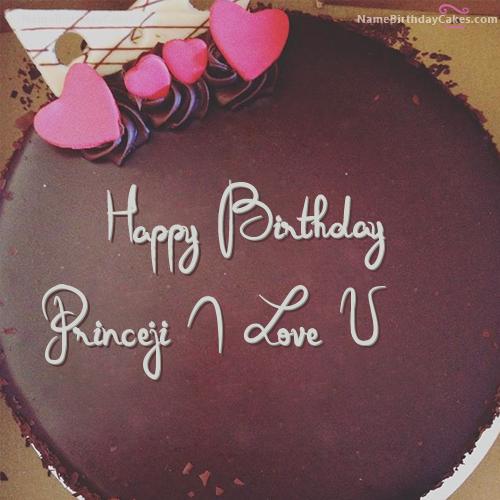 The Name Princeji I Love U Is Generated On Happy Birthday Images