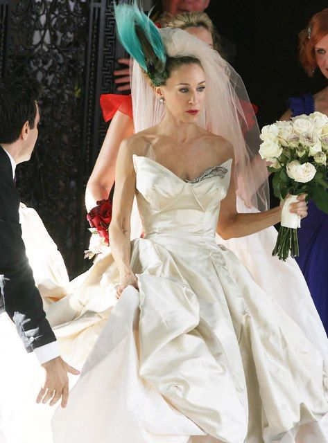 Sarah Jessica Parker As Carrie Bradshaw Of The And City Movie In A Vivienne Westwood Wedding Dress Much Everyone Loved This
