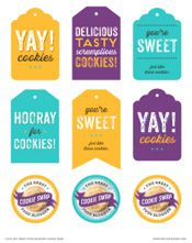 Cookie swap printable gift tags and labels printables cookie swap printable gift tags and labels negle Choice Image