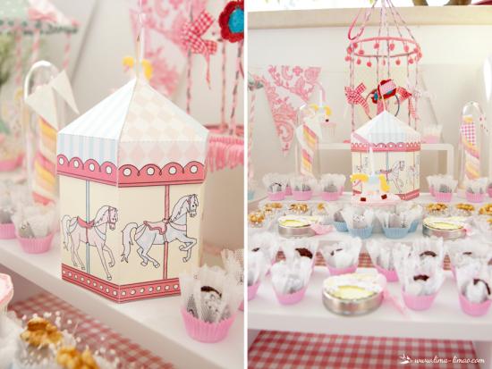 Carousel Birthday Party centerpieces