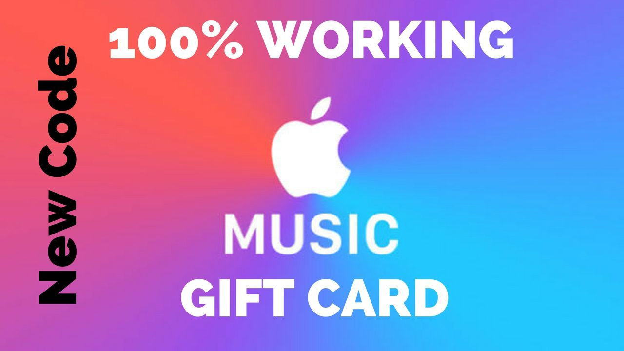 Music Gift Cards Free Apple Music Gift Card Code Free Itunes Gift Card Itunes Card Itunes Card Codes