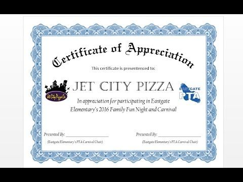 How to Make Formal Certificate of Appreciation with MS Word Make - award certificates word