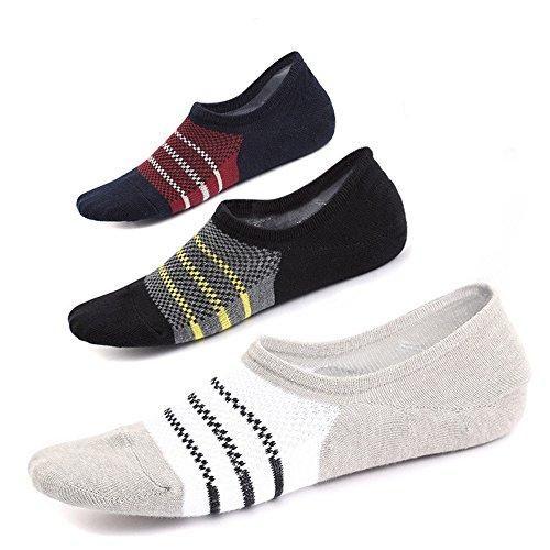 Oferta: 8.99€. Comprar Ofertas de Ueither Mens Cotton Low Cut No Show Casual Ankle Socks Anti-Slip (Tamaño del zapato:38-44, Color 1 (3 Pares)) barato. ¡Mira las ofertas!