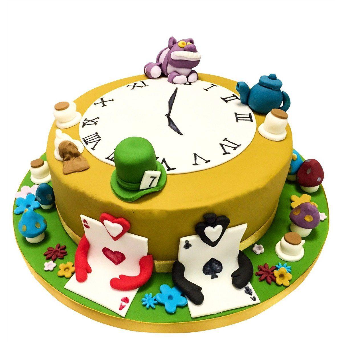 Alice In Wonderland Cake in 2020 Alice in wonderland