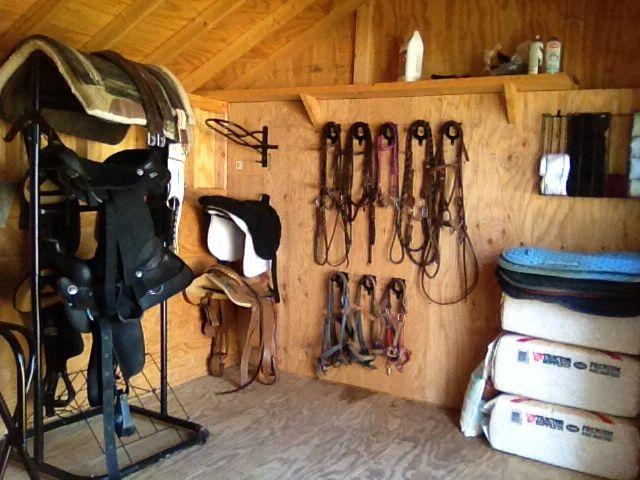 Convert A Backyard Shed Into A Tack Room Tack Room Tack Shed Ideas Horse Tack Rooms