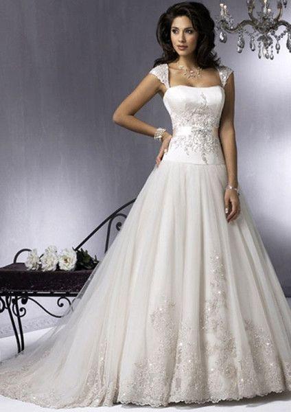 Ein Line-Schein Bling Brautkleider mit Straps von OkayAngel auf ...