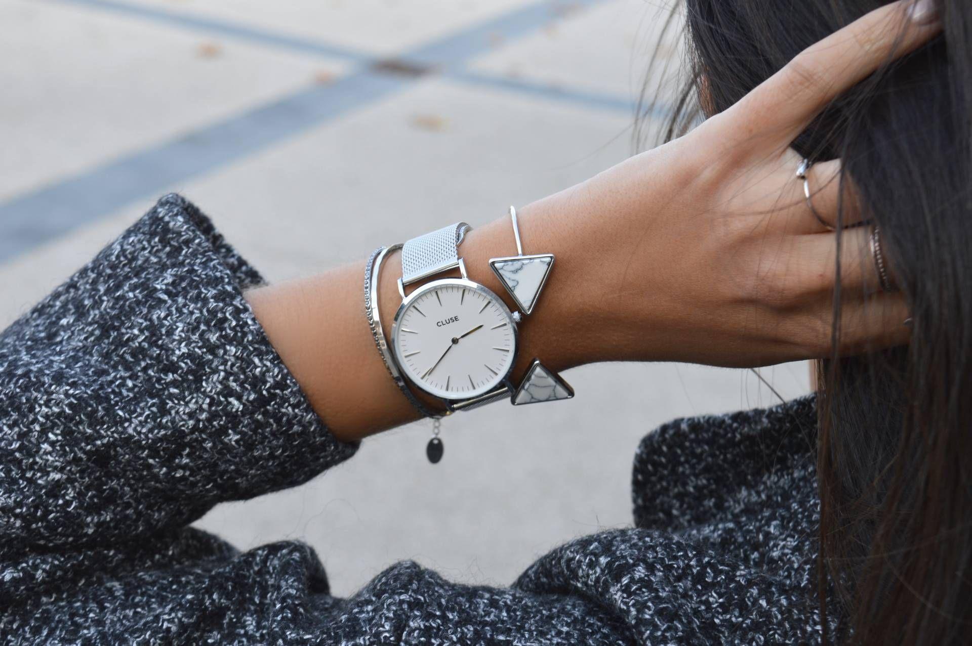 cluse montre les montre pinterest montres blog mode tendance et manteau gris. Black Bedroom Furniture Sets. Home Design Ideas