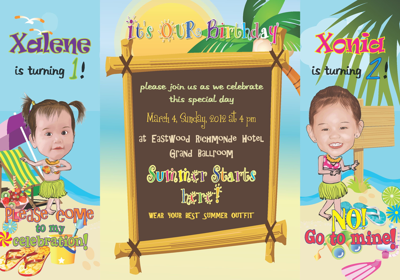 Beach Themed Birthday Party Invitations   My Birthday   Pinterest ...